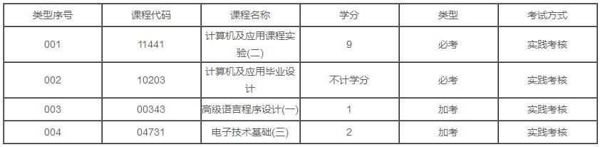 广东2020年自考计算机科学与技术(计算机及应用)专业本科有几门实践课?