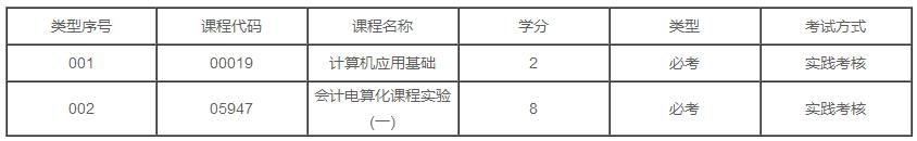 广东2020年自学考试会计(会计电算化)专业专科有几门实践课?